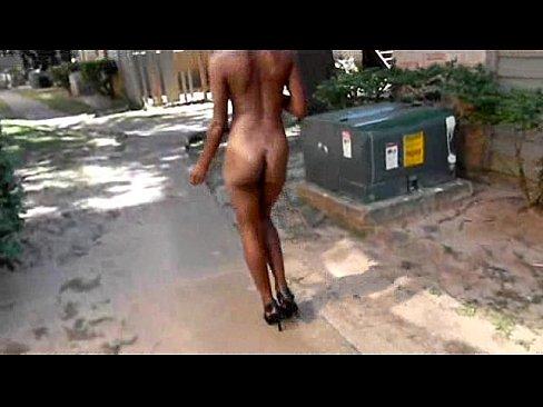African nude prostitute in public