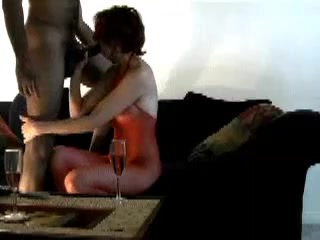 Blindfolded wife tricked to suck black cock