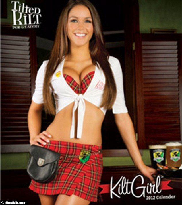 Hot tilted kilt waitresses