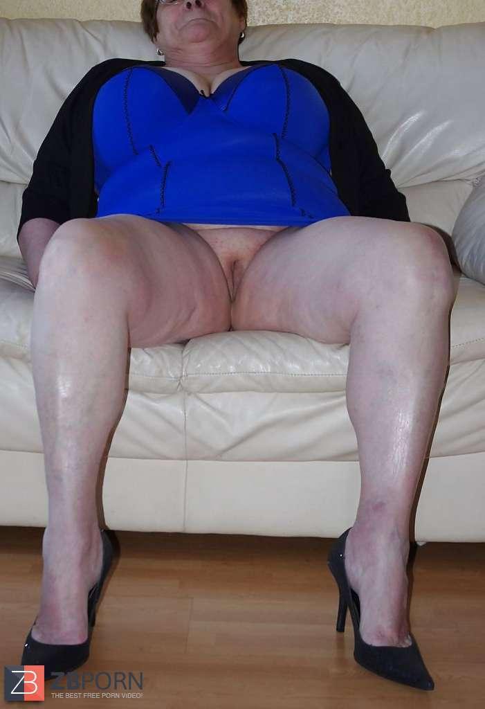 Mature granny high heels