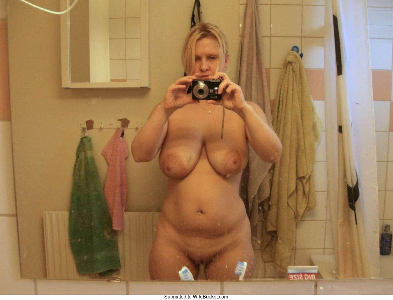 Mature naked selfie girl hot mirror nude