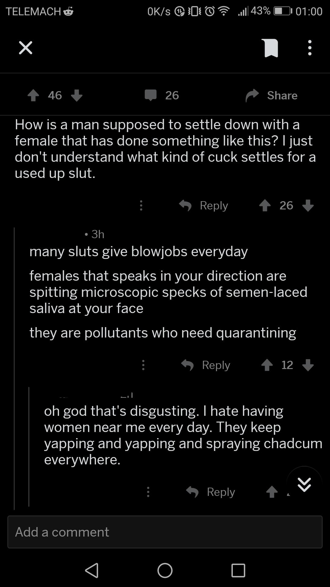 Saliva harmful to sperm
