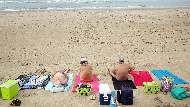 Fun nudist models family