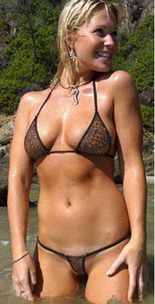 Sexy wife micro bikini