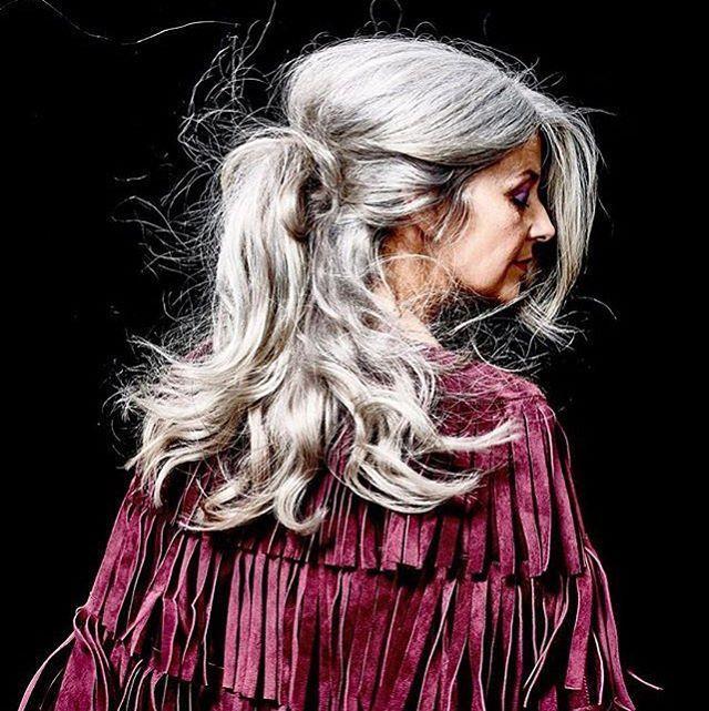 Grey haired oma granny