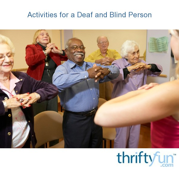 Activity for blind adult
