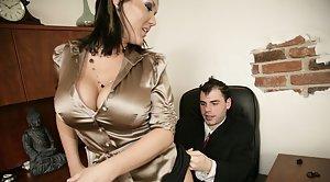 Tits handjob cumshot wife