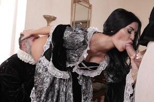 Mature granny dressed undressed