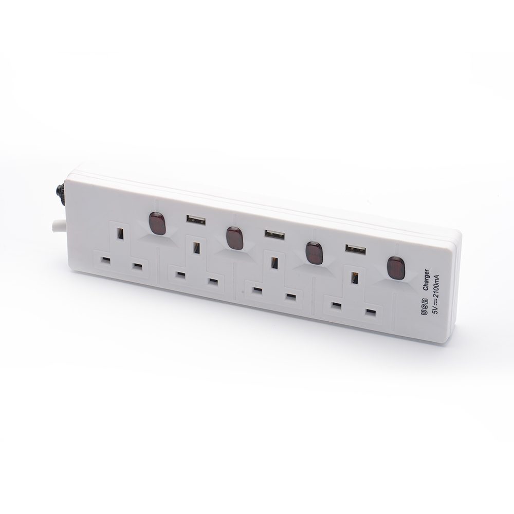 Power strip with individually switched outlets