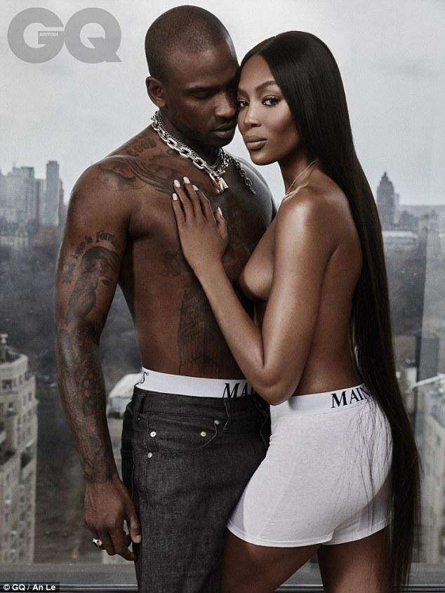 Wife black boyfriend posing