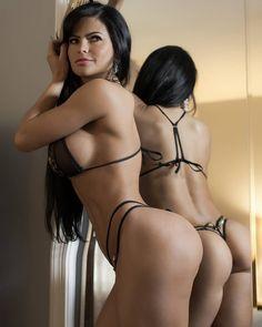 Amazing nude thong brunettes