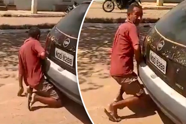 Man has sex with car