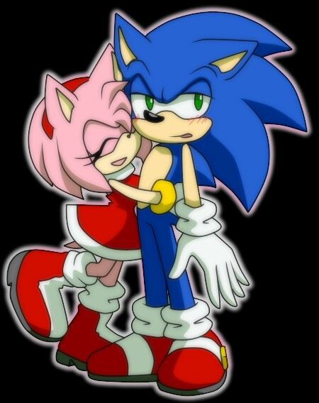 Sonic and amy hugging
