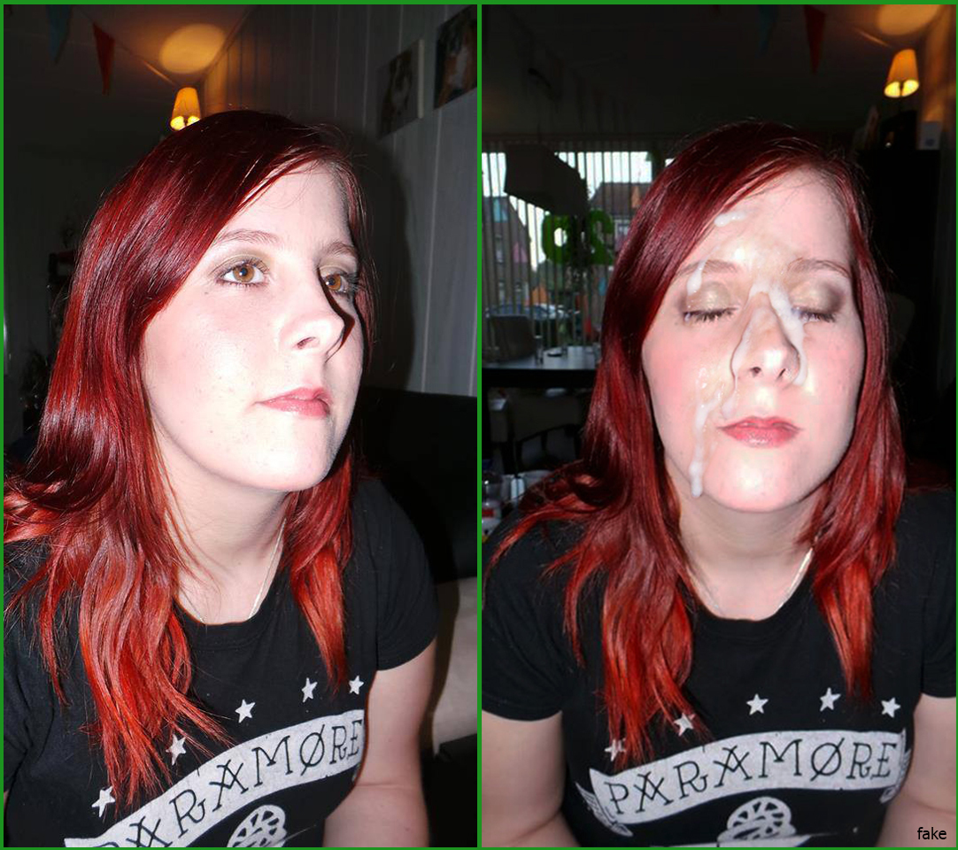 Facial before after porn