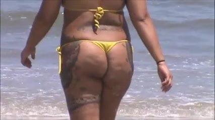 Micro bikini beach candid