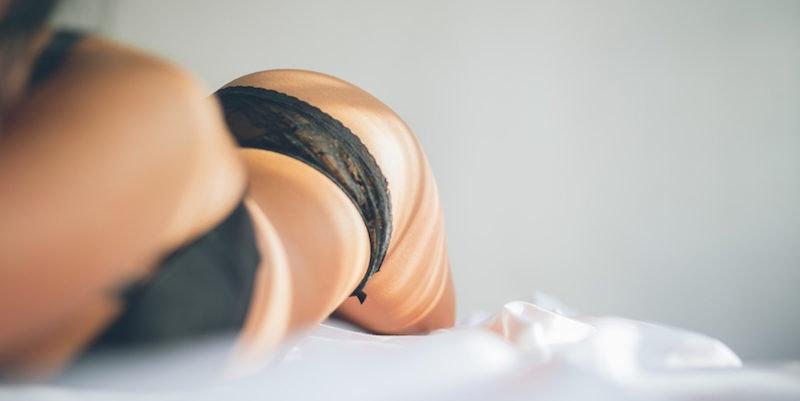 Sleeping curvy panties women in