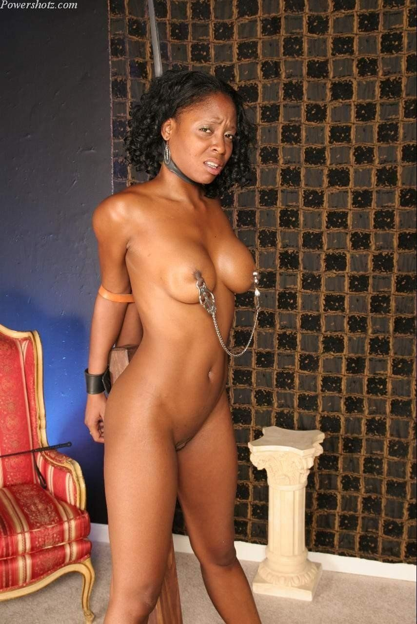 Sexy black girl bondage
