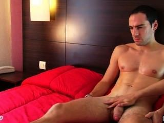 Men balls touching naked straight
