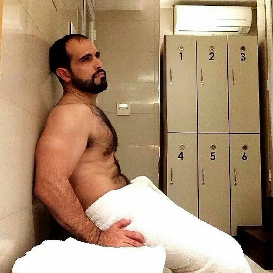 Nude men locker room naked