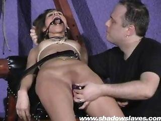 Sahara knite having sex in bondage