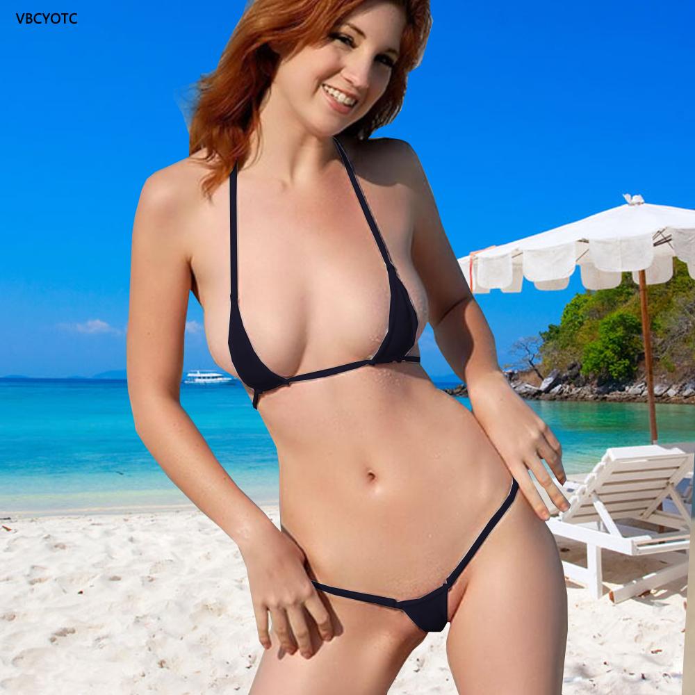 Model bikini woman in