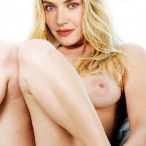 Blonde nudist pussy spread