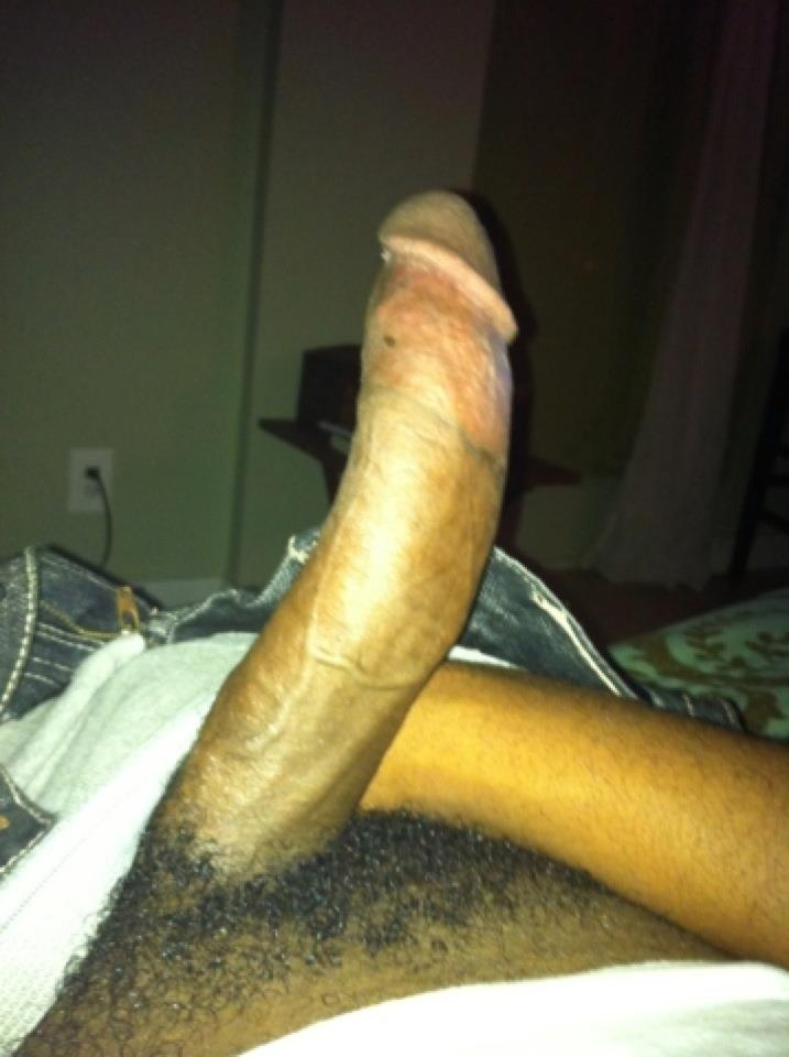 Big black curved cock