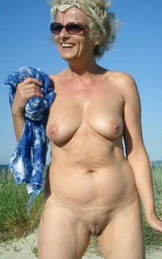 Granny nude beach pussy