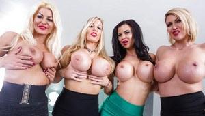 Hot tilted kilt waitresses