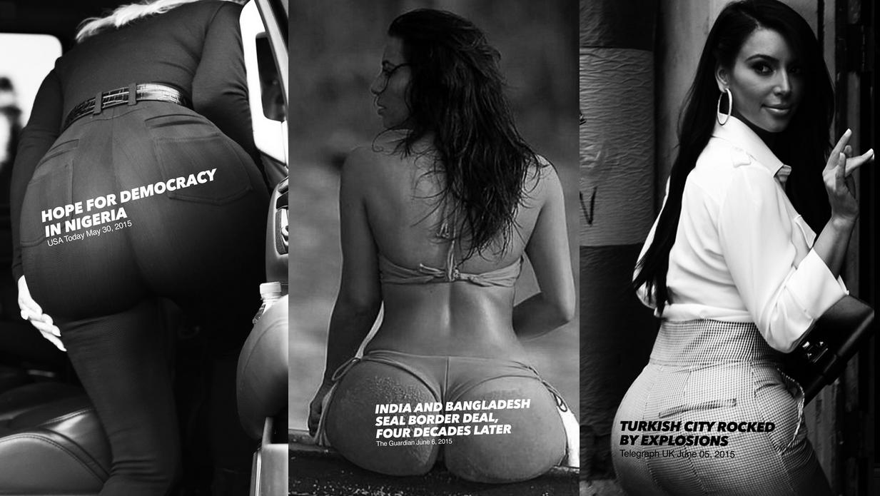 Kim kardashian butt ass