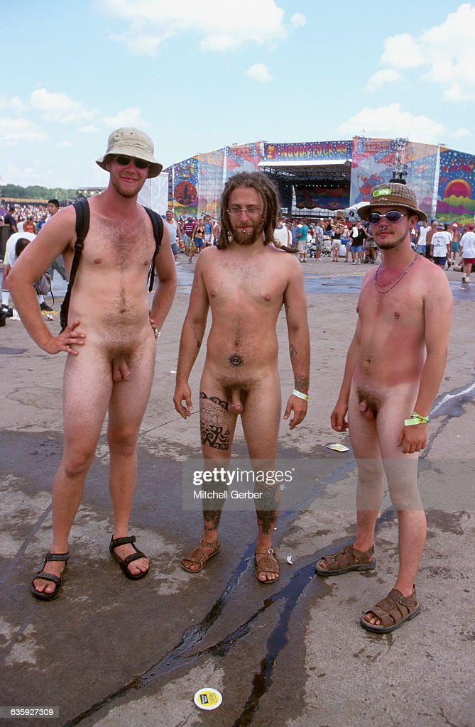 Nude naked men stage