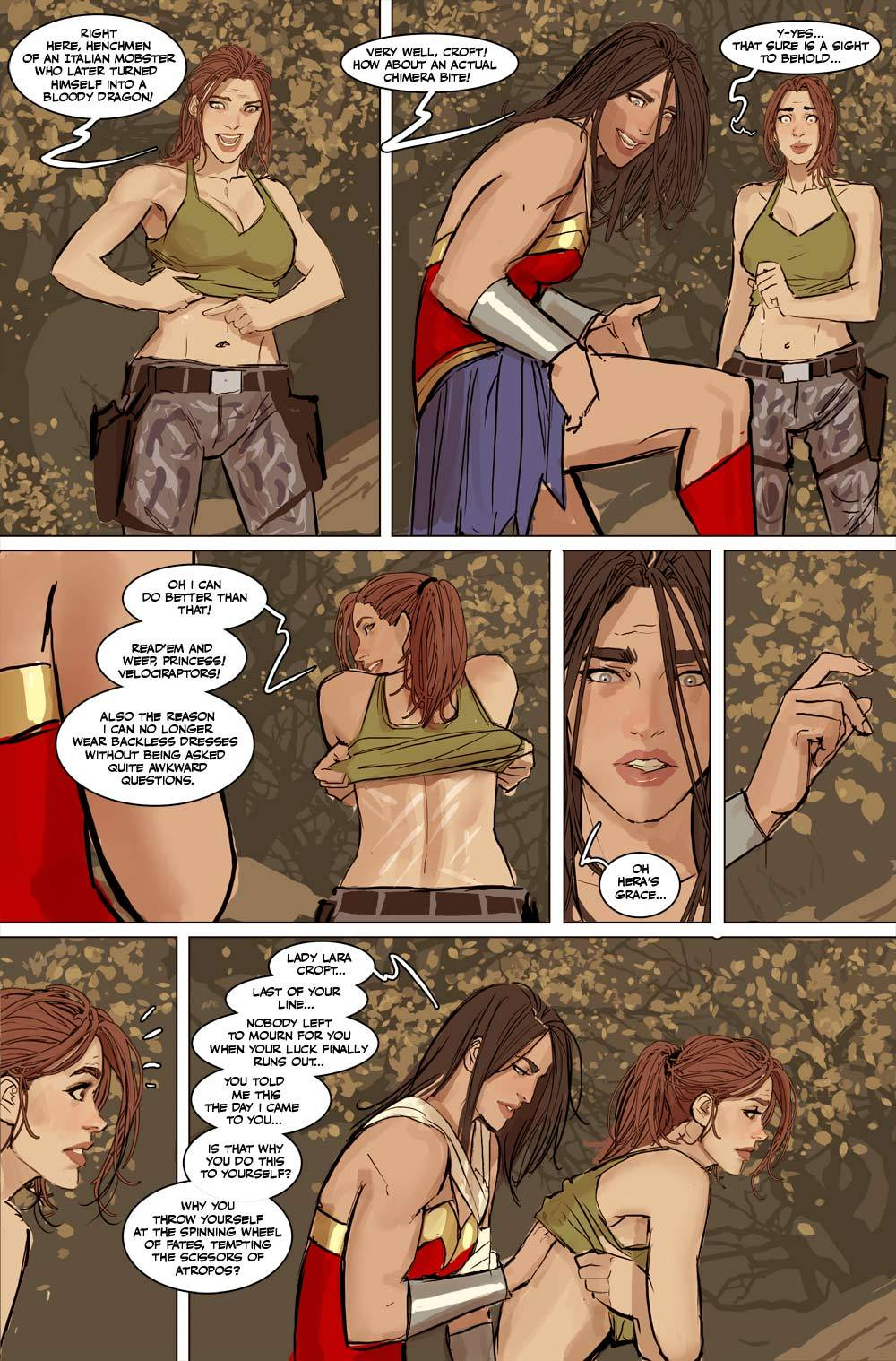 Wonder woman naked lesbien comics