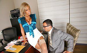 Husband watches wife gangbang