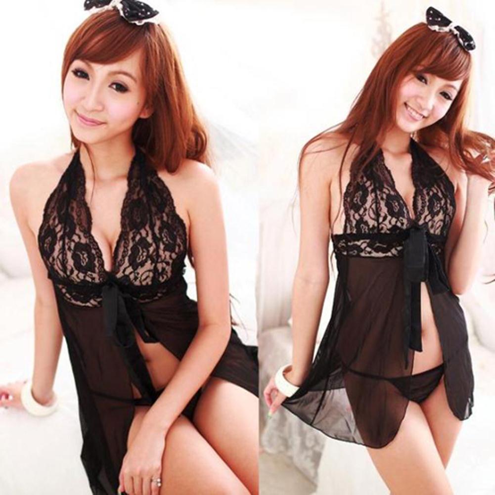 See nightie through girls hot