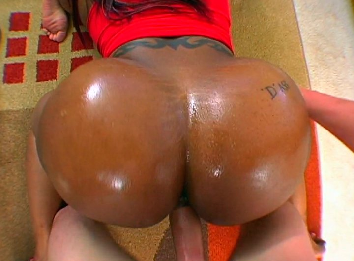 Oily huge black butt