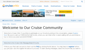 Cruise critic message boards