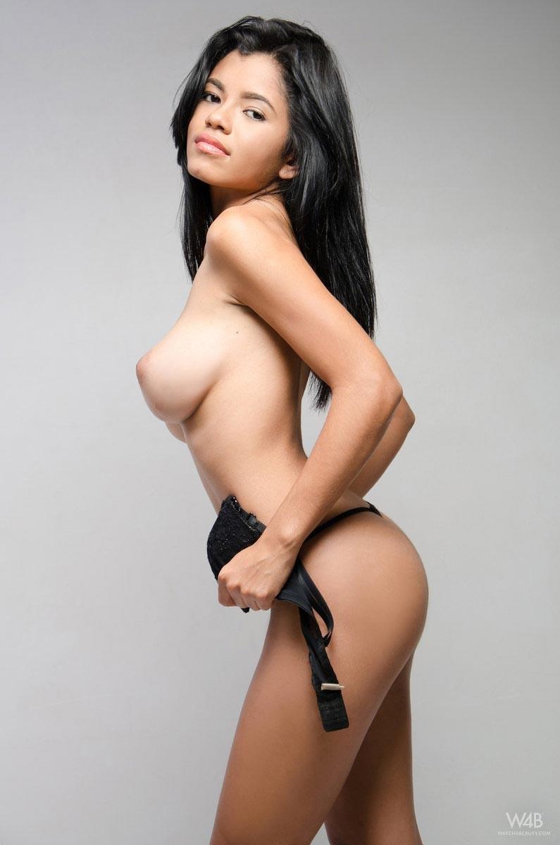 Beautiful colombian girl topless