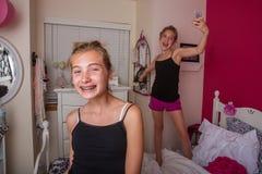Cute young teen girls selfies