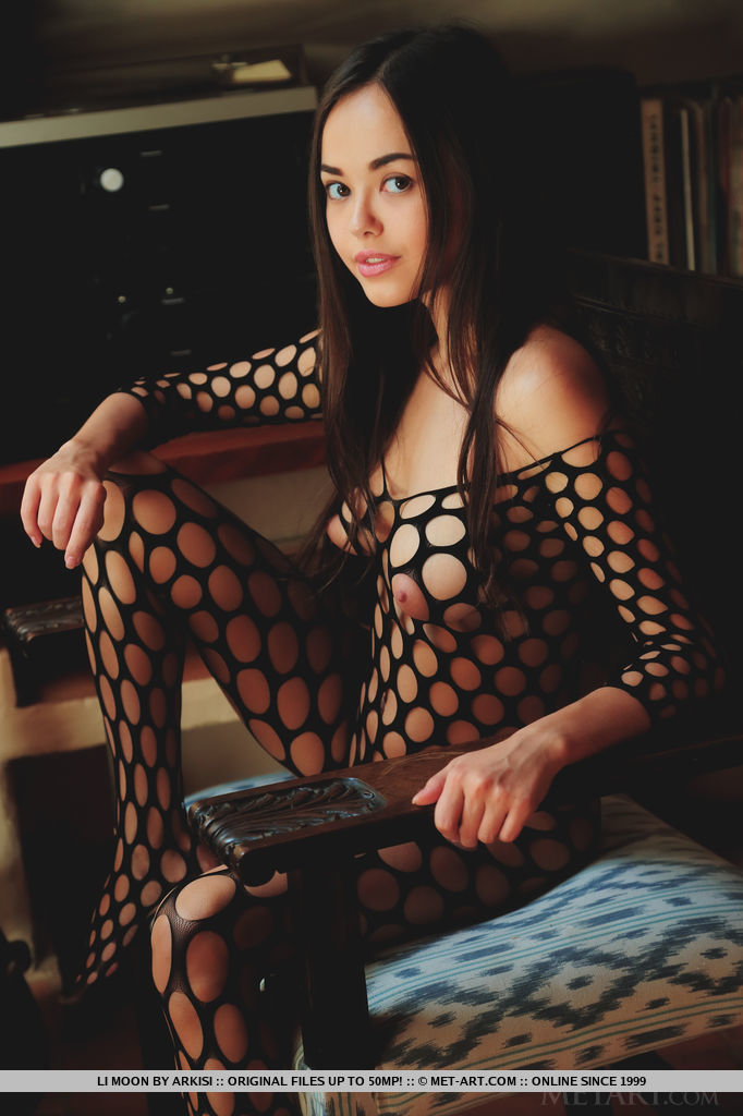 Sexy fishnet stocking pussy