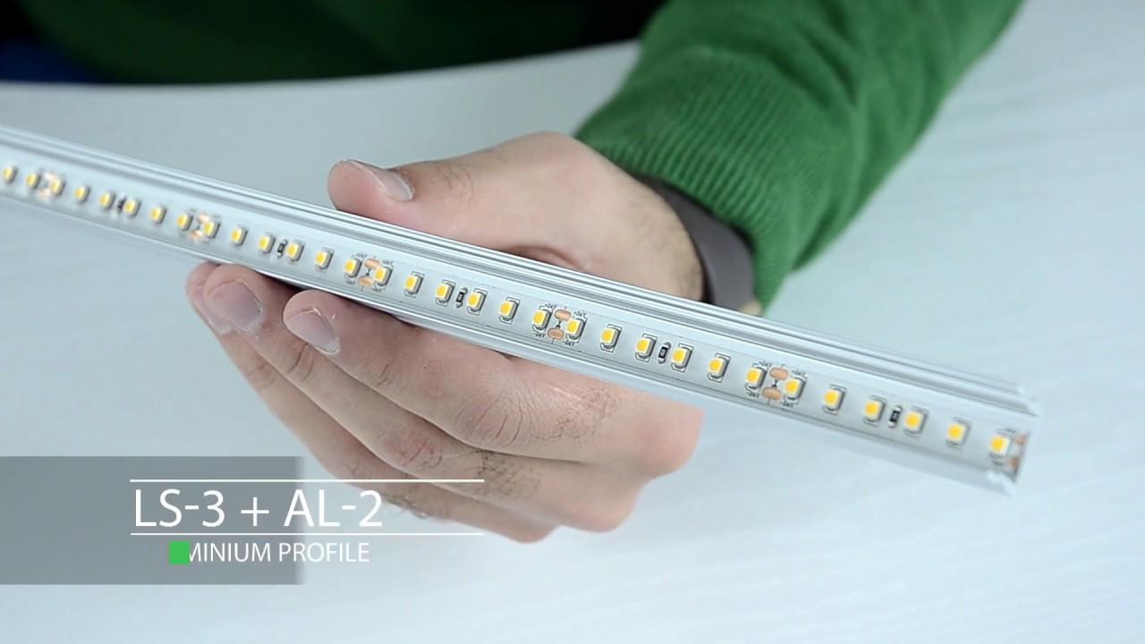 Flat conduit light strip