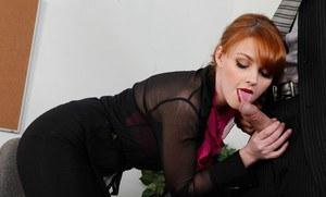 Ebony slut choking on cum