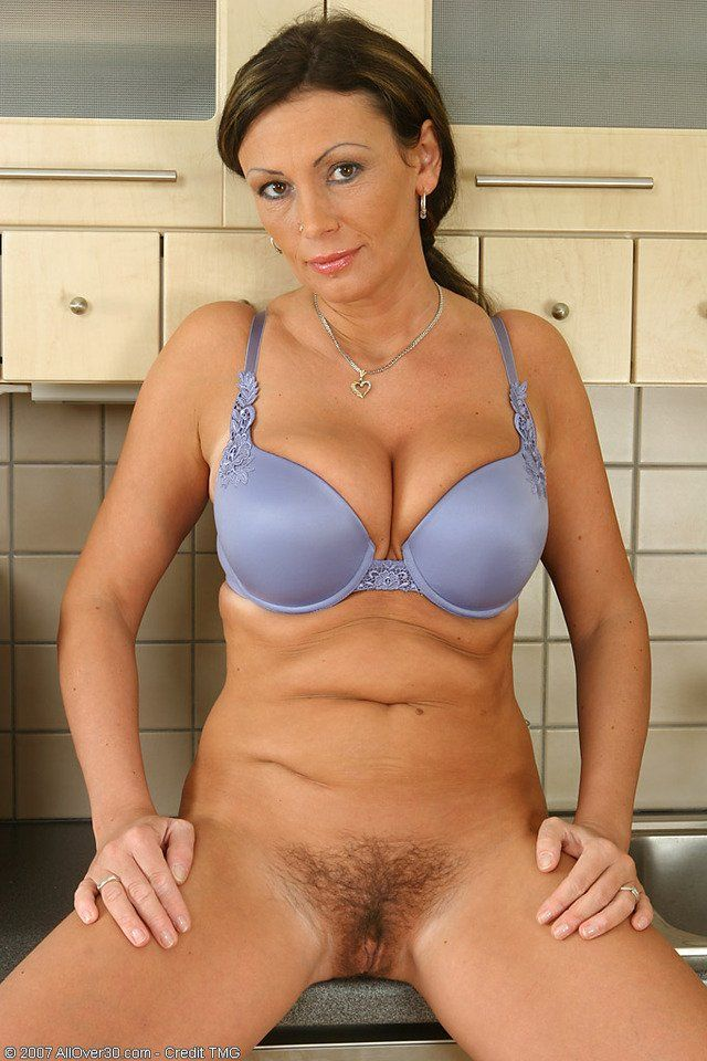 Milf wearing bra and panties