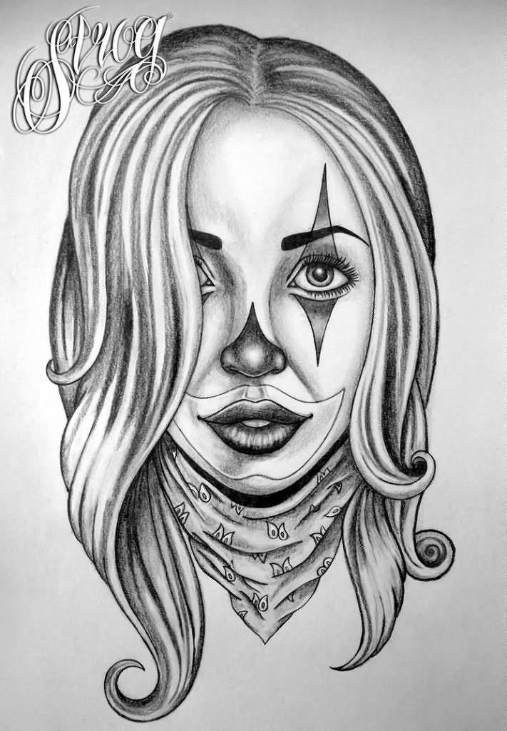 Gangster girl tattoo drawings