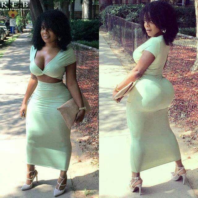 Black girl booty dress