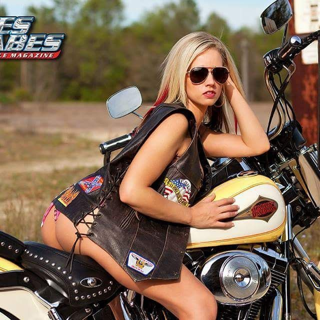 Naked chicks on motorcycle