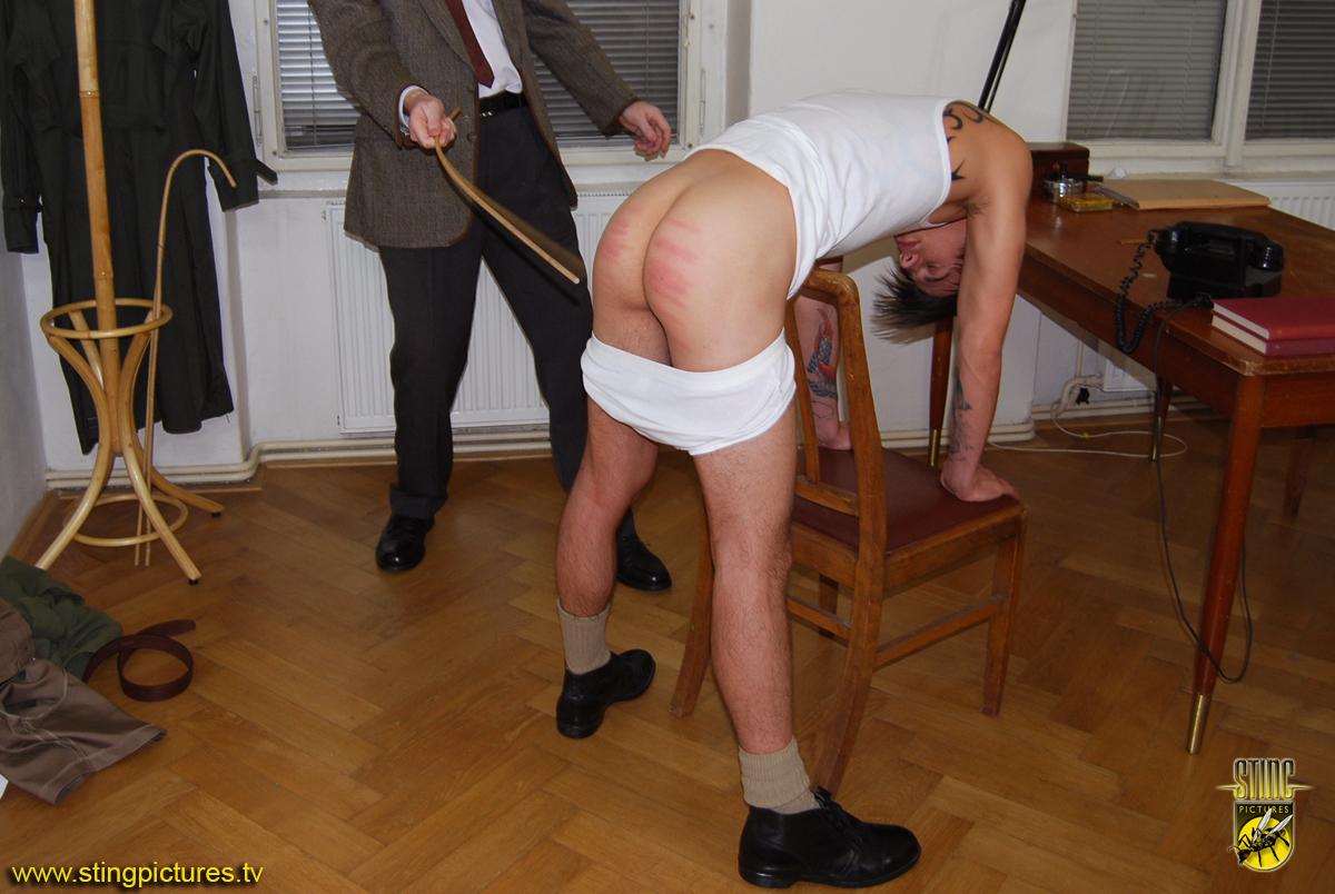 Boys bare bottom caning