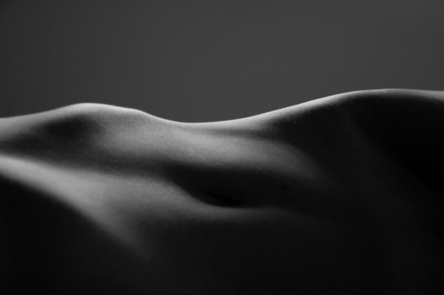 Black and white nude art