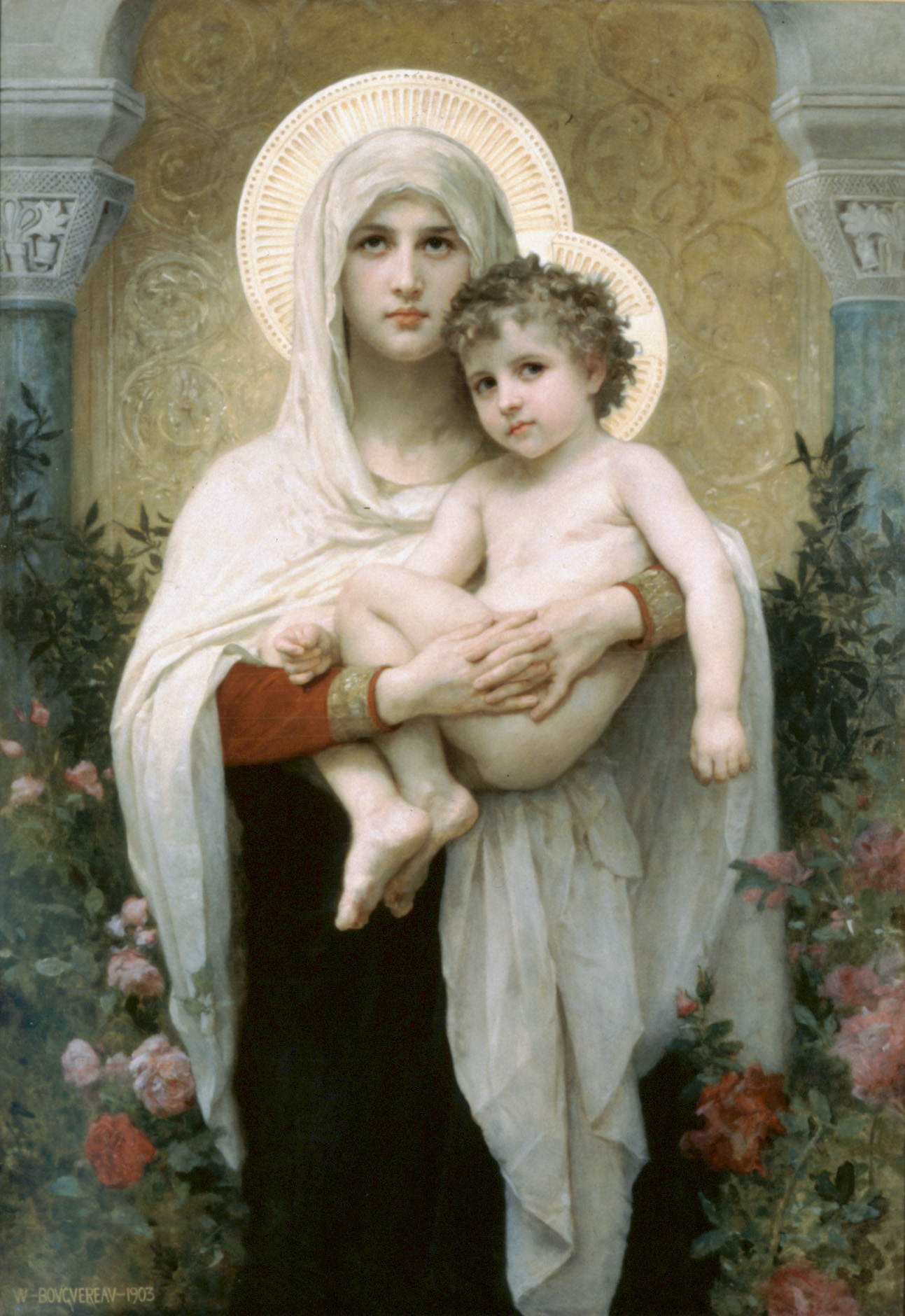Saint bernard the blessed virgin mary
