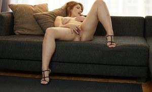 Blindfolded women sucking cock