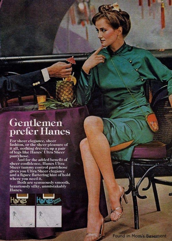 Women wearing pantyhose at work